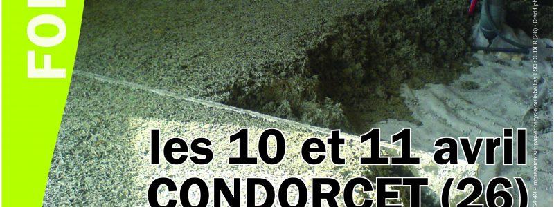 Formation Faire une dalle en chaux et chanvre les 10 et 11 avril à Condorcet (26)