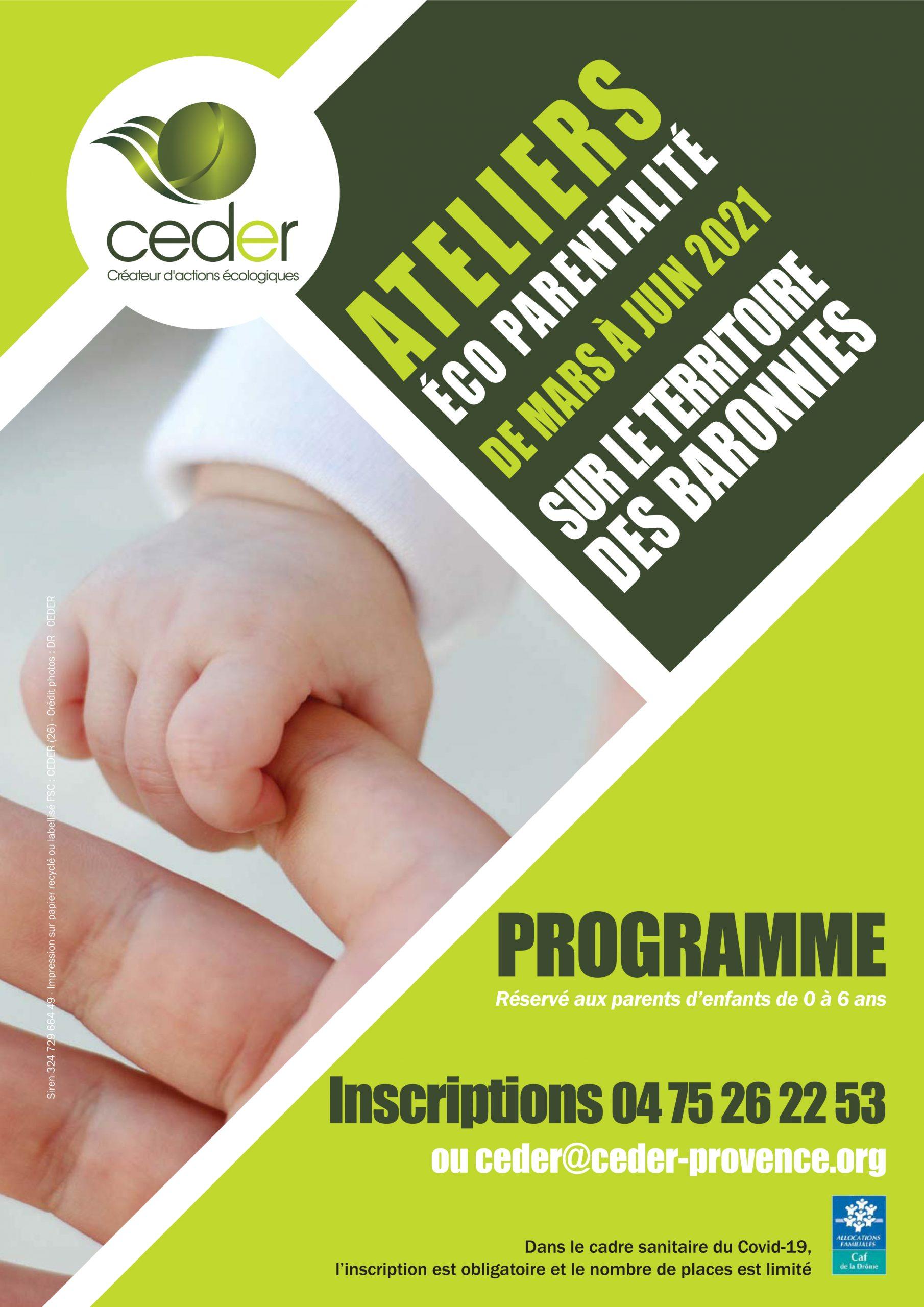 COuverture programme éco parentalité Drôme 2021